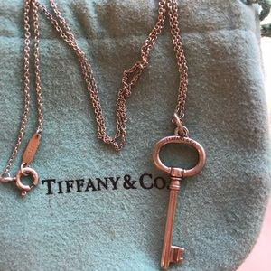 Tiffany & Co. key necklace with 16 in. chain!